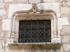 Immeuble dit Maison Mazot - Français:   Imposte surmontant la porte d\'entrée de l\'hôtel de ville installé dans la maison Mazot (Rocamadour, Lot)