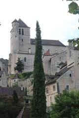 Eglise - Église Saint-Cirq-et-Sainte-Juliette de Saint-Cirq-Lapopie (département du Lot, France), des XIIe, XIIIe, XIVe et XVe siècles.