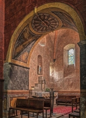 Eglise des Templiers - English: fortified church of Templars in Luz Saint Sauveur (65120)