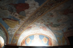 Chapelle Notre-Dame-de-Garaison et bâtiments conventuels - English: This photo shows the detail of the wall and ceiling paintings inside the Sacristy of the The Notre-Dame-de-Garaison. Photo taken on 23 August 2019.