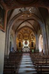 Chapelle Notre-Dame-de-Garaison et bâtiments conventuels - English: The altar within The Notre-Dame-de-Garaison from the entrance of the chapel. Photo taken on 23 August 2019.