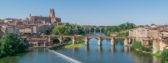 Cathédrale Sainte-Cécile - English: Vieux Pont and Saint Cecilia Cathedral of Albi, Tarn, France        This place is a UNESCO World Heritage Site, listed as Cité épiscopale d'Albi.  العربية | asturianu | беларуская | беларуская (тарашкевіца)‎ | বাংলা | català | čeština | dansk | Deutsch | English | español | euskara | فارسی | français | עברית | hrvatski | magyar | italiano | 日本語 | 한국어 | latviešu | македонски | മലയാളം | مازِرونی | Nederlands | polski | português | português do Brasil | română | русский | sicilianu | slovenčina | slovenščina | Türkçe | українська | Tiếng Việt | 中文 | 中文(中国大陆)‎ | 中文(简体)‎ | 中文(繁體)‎ | 中文(台灣)‎ | +/−          This building is classé au titre des Monuments Historiques. It is indexed in the Base Mérimée, a database of architectural heritage maintained by the French Ministry of Culture, under the reference PA00095453 .  беларуская (тарашкевіца)‎ | বাংলা | brezhoneg | català | Deutsch | Ελληνικά | English | Esperanto | español | euskara | suomi | français | magyar | italiano | 日本語 | македонски | Nederlands | português | português do Brasil | română | русский | sicilianu | svenska | українська | العربيَّة | +/−