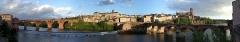 Vieux pont - Français:   Vue panoramique du centre d\'Albidominant le tarn et du pont vieux