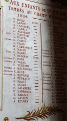 Eglise Saint-Pierre - Français:   Gaillac - Église Saint-Pierre - Plaque commémorative des paroissiens morts pendant la Première Guerre mondiale