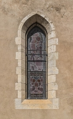 Eglise Notre-Dame de l'Assomption - English: Window of the church of Our Lady of the Assumption in Caussade, Tarn-et-Garonne, France