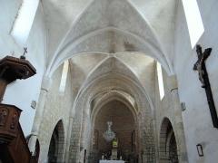 Eglise Saint-Saturnin - Français:   Monsonville - Église Saint-Saturnin - Nef