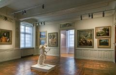 Ancien palais épiscopal, ancien Hôtel de ville, actuellement musée Ingres - English:  Musée Ingres, Montauban, Tarn et Garonne, France. Bishop's bedroom.