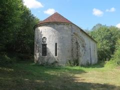 Prieuré de Grandmont - Deutsch:   Church of the Grandmontine Priory Châteauneuf, comm. Corquoy, near Châteauneuf-sur-Cher, Département Cher, France, view from northeast