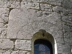 Prieuré de Grandmont - Deutsch:   Church of the Grandmontine Priory Châteauneuf, comm. Corquoy, near Châteauneuf-sur-Cher, Département Cher, France, detail of the choir window