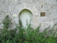 Prieuré de Grandmont - Deutsch:   Church of the Grandmontine Priory Châteauneuf, comm. Corquoy, near Châteauneuf-sur-Cher, Département Cher, France, portal north side