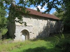 Prieuré de Grandmont - Deutsch:   Church of the Grandmontine Priory Châteauneuf, comm. Corquoy, near Châteauneuf-sur-Cher, Département Cher, France, portal south side, outside portal