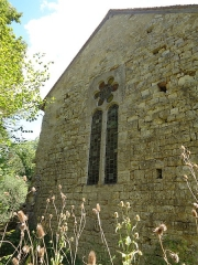 Prieuré de Grandmont - Deutsch:   Church of the Grandmontine Priory Châteauneuf, comm. Corquoy, near Châteauneuf-sur-Cher, Département Cher, France, west side