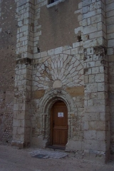 Eglise collégiale Saint-Martin - English: roman door of french collegiate church St Martin from Léré (Cher)