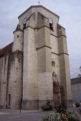 Eglise collégiale Saint-Martin - English: entrance tower of St Martin of Léré church ( Cher)