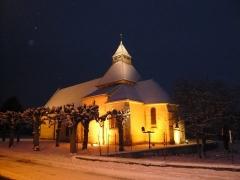 Eglise Saint-Julien - Français:   Église-osmery-sous-la-neige
