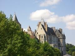 Château et ses abords - Château de Châteaudun (Eure-et-Loir, France), vu de la promenade du Mail