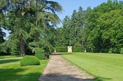 Château de Bouges -  Le parc du château.
