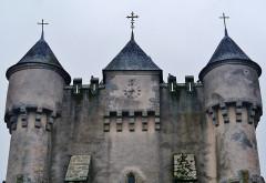 Eglise Saint-Michel - Deutsch: Giebel der Kirche St. Michael, Lourdoueix-Saint-Michel, Département Indre, Region Zentrum-Loiretal, Frankreich