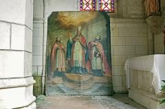 Ancienne collégiale Sainte-Menehould, actuelle église Saint-Sulpice -  Palluau-sur-Indre (Indre)  Eglise Saint-Sulpice, anciennement collégiale Sainte Menehould. Peinture sur toile de saint-Sulpice.