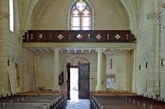 Ancienne collégiale Sainte-Menehould, actuelle église Saint-Sulpice - Palluau-sur-Indre (Indre)  Eglise Saint-Sulpice, anciennement collégiale Sainte Menehould.   Partie occidentale de la nef.
