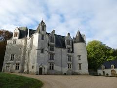 Château des Brétignolles - Français:   Château gothique de la fin du XVe siècle. Situé entre Chinon et l\'Île Bouchard, en Touraine. 1 Route de Chinon, 37500 Anché, Indre-et-Loire