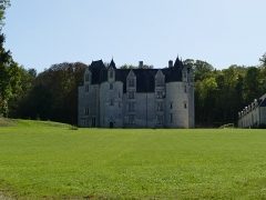 Château des Brétignolles - Français:   Vue du château des Brétignolles à Anché, Indre-et-Loire.