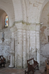 Eglise Notre-Dame - Deutsch:   Katholische Pfarrkirche Notre-Dame in La Celle-Guenand im Département Indre-et-Loire (Centre-Val de Loire/Frankreich), Pfeiler