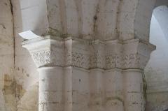 Eglise Notre-Dame - Deutsch:   Katholische Pfarrkirche Notre-Dame in La Celle-Guenand im Département Indre-et-Loire (Centre-Val de Loire/Frankreich),Kapitelle