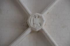 Eglise Notre-Dame - Deutsch:   Katholische Pfarrkirche Notre-Dame in La Celle-Guenand im Département Indre-et-Loire (Centre-Val de Loire/Frankreich), Schlussstein