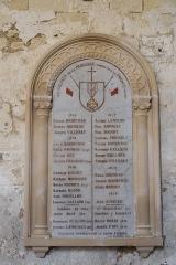 Eglise Notre-Dame - Deutsch:   Katholische Pfarrkirche Notre-Dame in La Celle-Guenand im Département Indre-et-Loire (Centre-Val de Loire/Frankreich), Kriegerdenkmal Erster Weltkrieg