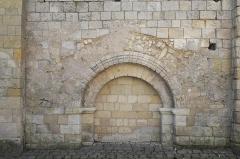 Eglise Notre-Dame - Deutsch:   Katholische Pfarrkirche Notre-Dame in La Celle-Guenand im Département Indre-et-Loire (Centre-Val de Loire/Frankreich), vermauertes Portal