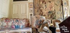 Château de Champchevrier - Français:   Mobilier du salon du château de Champchevrier