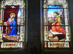 Eglise Saint-Vincent - Français:   Annonciation sur vitrail