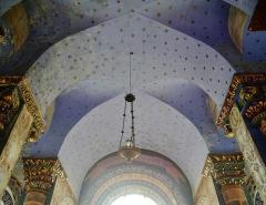 Eglise Notre-Dame - Deutsch:   Chorgewölbe der Kirche Unserer Lieben Frau, Rivière, Département Indre-et-Loire, Region Zentrum-Loiretal, Frankreich