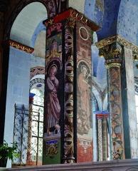 Eglise Notre-Dame - Deutsch:   eine Säule im Chor der Kirche Unserer Lieben Frau, Rivière, Département Indre-et-Loire, Region Zentrum-Loiretal, Frankreich