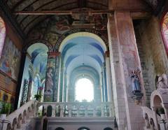 Eglise Notre-Dame - Deutsch:   Chorbogen der Kirche Unserer Lieben Frau, Rivière, Département Indre-et-Loire, Region Zentrum-Loiretal, Frankreich