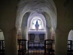Eglise Notre-Dame - Deutsch:   Krypta der Kirche Unserer Lieben Frau, Rivière, Département Indre-et-Loire, Region Zentrum-Loiretal, Frankreich
