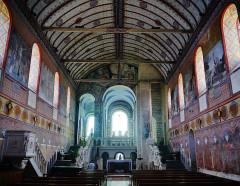 Eglise Notre-Dame - Deutsch:   Langhaus der Kirche Unserer Lieben Frau, Rivière, Département Indre-et-Loire, Region Zentrum-Loiretal, Frankreich