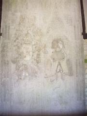 Maison du 16e siècle - Français:   Pierre tombale de Guillaume de Beauvais et de sa femme Jeanne d\'Estouteville, seigneur de Vascœuil, décédés en 1329. Dépôt du musée des Antiquités de Rouen.