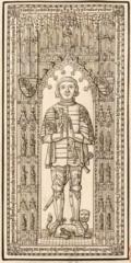 Maison du 16e siècle - Français:   dessin relevé pour gaignières, conservé à la BNF et numérisé par Gallica. Robert d\'Estouteville, seigneur d\'Ausseville, \