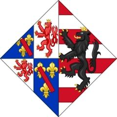 Maison du 16e siècle - Français:   Armes d\'Adrienne d\'Estouteville, comtesse héritière d\'Estouteville