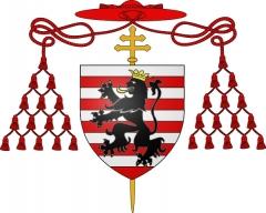 Maison du 16e siècle - Français:   Blason du Cardinal Guillaume d\'Estouteville