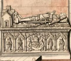 Maison du 16e siècle - Français:   tombe de Nicolas_d\'estouteville_relevée pour Gaignières, conservé à la BNF.