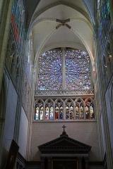 Cathédrale Saint-Gatien - Rosace de la cathédrale Saint-Gatien de Tours (Indre-et-Loire, France).