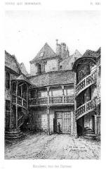 Maison, ou Hôtel Binet - Français:   (Hôtel Binet) Escaliers, ancienne rue des Carmes (Tours)