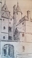Hôtel dit de Jean Briçonnet - Français:   hôtel Berthelot-Briçonnet, 15 rue du Change, XVe siècle, gravure A.W.N PUGIN, 1847