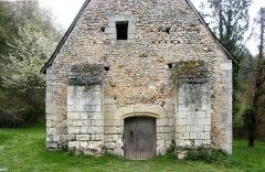 Ancienne chapelle Saint-Laurent - Français:   Détail de la façade ouest de la nef de la chapelle Saint-Laurent (Veigné)