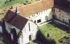 Prieuré Notre-Dame et Saint-Etienne de Villiers -  Photo aérienne du Prieuré de Grammont-Villiers situé sur la commune de Villeloin-Coulangé en Indre-et-Loire