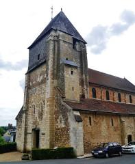 Eglise Saint-Genest - Deutsch:   Turm der Kirche St. Genest, Lavardin, Département Loir-et-Cher, Region Zentrum-Loiretal, Frankreich