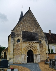 Eglise Saint-Jacques - Deutsch: Fassade der Kirche St. Jakobus, Saint-Jacques-de-Guérêts, Département Loir-et-Cher, Region Zentrum-Loiretal, Frankreich